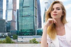 企业确信的妇女年轻人 图库摄影