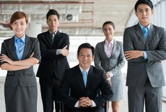 企业确信的小组 免版税库存图片
