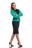 企业确信的常设妇女年轻人 库存图片