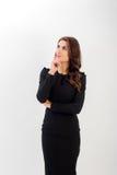 企业确信的纵向妇女年轻人 库存图片