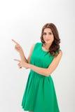 企业确信的纵向妇女年轻人 免版税库存照片