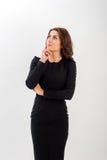 企业确信的纵向妇女年轻人 免版税库存图片