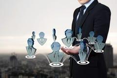 企业社交。 库存图片