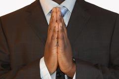 企业祷告 免版税图库摄影