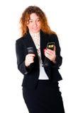 企业移动电话二个妇女年轻人 库存照片