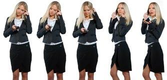 企业移动电话妇女 库存图片