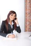 企业移动电话妇女 图库摄影