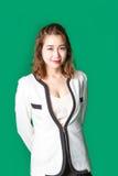 企业穿戴的微笑的亚裔泰国夫人 免版税库存照片