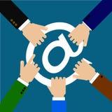 企业竞争在互联网 免版税库存照片