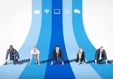 企业竞争成就竞争概念 免版税库存照片