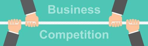 企业竞争横幅概念 免版税库存照片