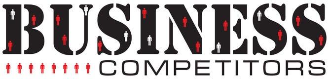 企业竞争的概念 免版税库存图片