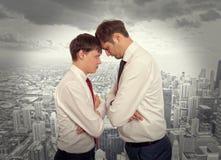 企业竞争,冲突概念 库存图片