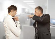 企业竞争,冲突概念 图库摄影
