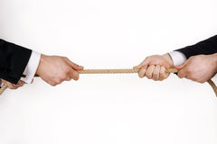 企业竞争 免版税库存照片