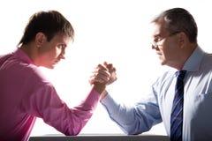 企业竞争 免版税库存图片