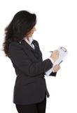 企业端庄的妇女 库存图片