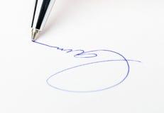 企业签名 图库摄影