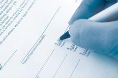企业签字 免版税图库摄影