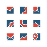 企业简单的商标集合 库存例证