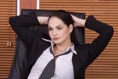 企业精瘦的妇女 库存照片