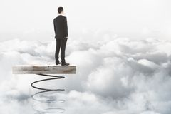 企业精神和迅速上升的概念 免版税库存照片