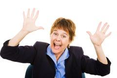 企业紧急妇女 库存图片