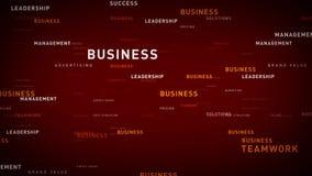 企业红色的主题词 库存例证