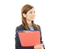 企业纵向妇女年轻人 免版税图库摄影