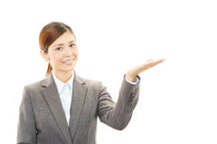 企业纵向妇女年轻人 免版税库存照片