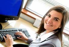 企业纵向妇女 免版税库存图片