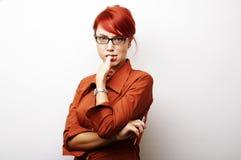 企业纵向妇女 免版税图库摄影
