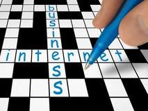 企业纵横填字谜互联网 库存图片