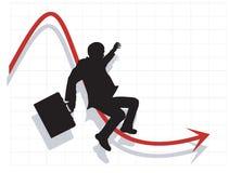 企业经济人下滑 免版税库存照片