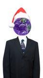 企业经济全球去的绿色世界xmas 免版税库存照片