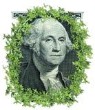 企业经济去的绿色行业工作货币 免版税图库摄影