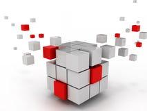 企业结构抽象多维数据集  免版税库存照片