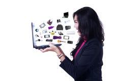 企业网上产品 免版税图库摄影