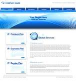 企业网模板 免版税库存图片