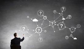 企业网络和连接概念 免版税库存图片