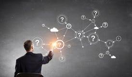 企业网络和连接概念 向量例证