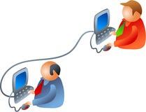 企业网络 库存图片