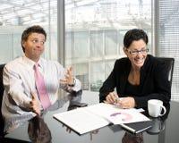 企业耍笑的合作伙伴 库存照片