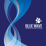 企业背景模板摘要蓝色波浪设计传染媒介 库存照片