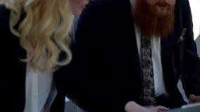 企业膝上型计算机人 股票录像