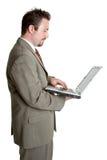 企业膝上型计算机人 库存照片