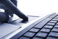 企业膝上型计算机技术 免版税图库摄影