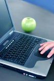 企业膝上型计算机 免版税图库摄影