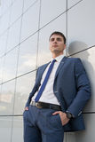 企业英俊的人纵向 免版税库存图片