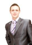 企业英俊的人诉讼 免版税图库摄影